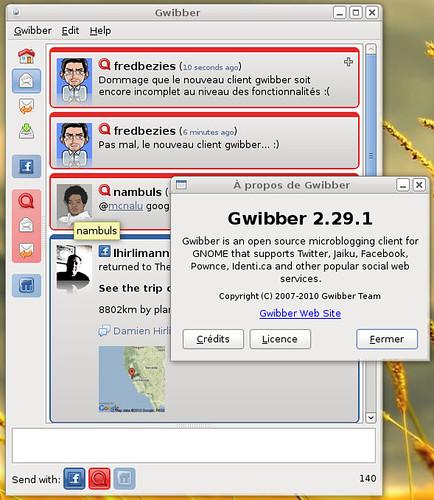 gwibber 2.29.1 sous Archlinux