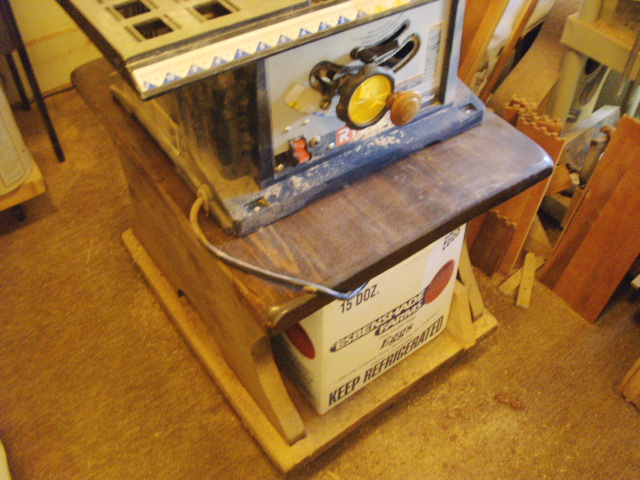 Table Saw in place