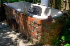 La baignoire chauffée au feu de bois