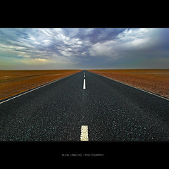 the endless road (alvin lamucho ) Tags: road camp west clouds way point photography highway raw desert path south north perspective dramatic wideangle east vanishing 1022 uwa nonhdr alvinlamucho