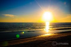 sun and flare {paradise collection} (*miss*leah*) Tags: ocean blue sunset vacation sun seascape beach water gold nikon paradise flare tropical d300 letsgetaway nikond300 leahhoskins