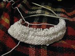 Waffle stitch washcloth (WIP)