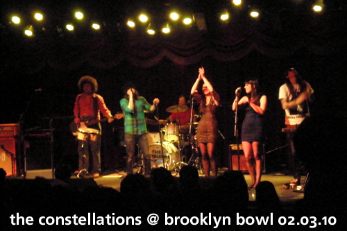 The Constellations at Brooklyn Bowl, February 3, 2010