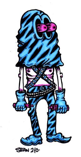 masked marker blue