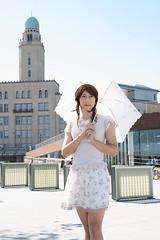 day149-07 L'est Rose at Yokohama (Yumiko Misaki) Tags: flower print beige knit skirt yokohama day152 lestrose