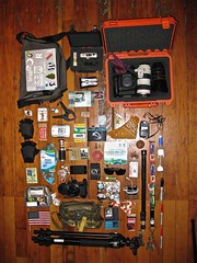 What's In My Bag(s)? (Kris Krug) Tags: camera canada film vancouver bag keys cards clamp photography book photographer bc wordpress britishcolumbia gear americanflag gloves snack stuff cbc headphones lantern sharpie lighter olympics bandana raincitystudios whatsinmybag lightmeter earplugs kriskrug kk bryght 2010 burnkit unload iphone ctv torchrelay fieldnotes raincity winterolympics 2010olympics wintergames vancouver2010 vancouverolympics mediapass truenorth huffpo vancouver2010olympics vanoc van2010 gearbag chattels poken no2010 mspool tnmh truenorthmediahouse va2010 w2culturemediahouse yvr2010 vo2010