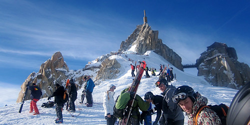 The View Back to the Aguille Du Midi