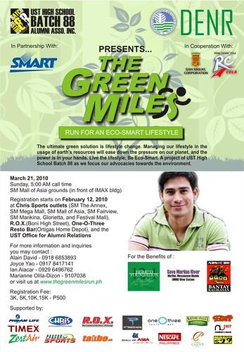 the green miles fun run 2010