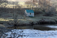 River Cottage (Tina-Pina) Tags: winter sunshine river scotland afternoon lyon cottage perthshire