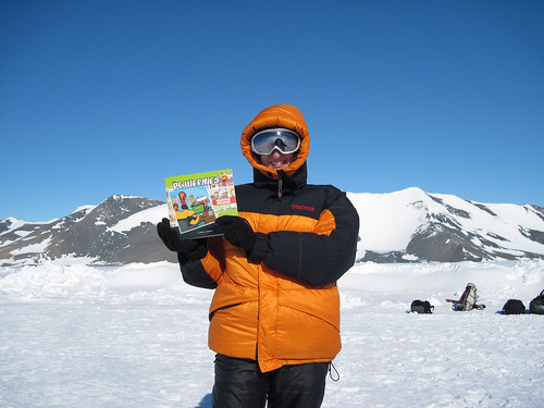 Pam in the South Pole, with Rebootus Maximus!!