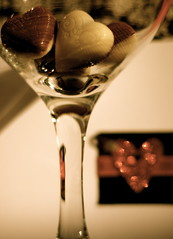 --- a glass of sweet love... (Gregoria Gregoriou Crowe) Tags: macro reflection love glass heart sweet bokeh chocolate creative wineglass valentinesday refreshments lovesong theverythoughtofyou carmenmcrae