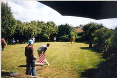 2003-07-27 Tom's Birthday Cricket ([Ananabanana]) Tags: friends summer film sport garden nikon candid cricket d40 nikonistas nikonista