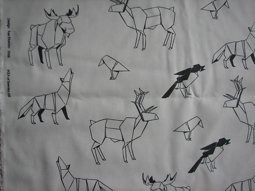 origami fabric from Ikea- heavy like a canvas