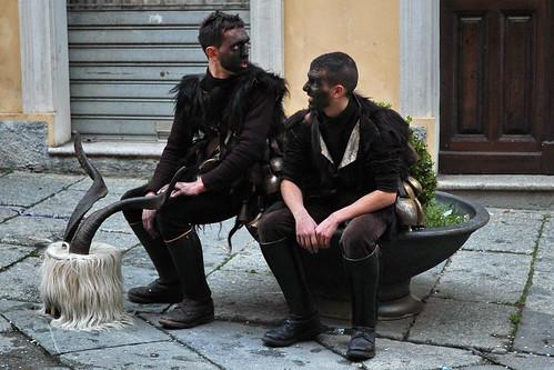 Maschere tradizionali in Corso garibaldi