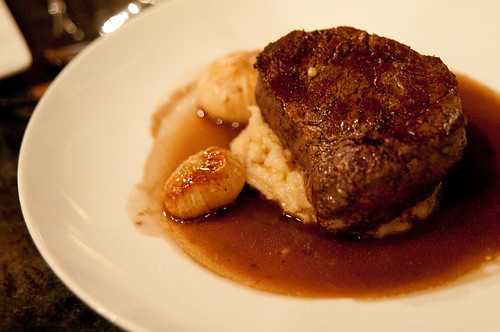 Peche:  Prime Beef Tenderloin with Pommes Puree