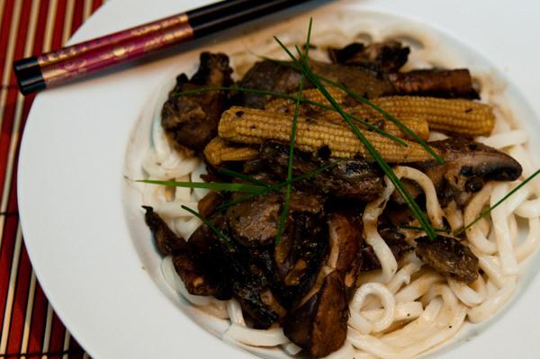 Japanese mushroom noodles
