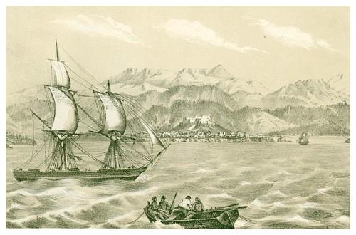 022- Cuba-Vista de la ciudad y montañas de Baracoa-Álbum pintoresco de la Isla de Cuba- 1853