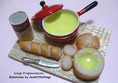 Dollhouse Miniature Soup Preparation