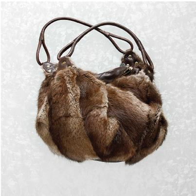 Harricana recycled fur bag 4