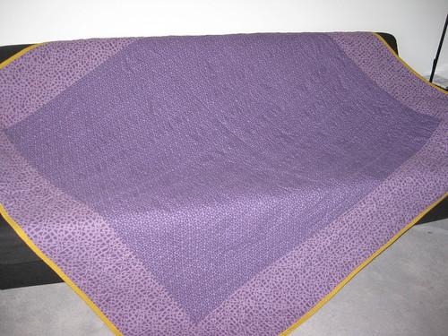 green violet quilt back