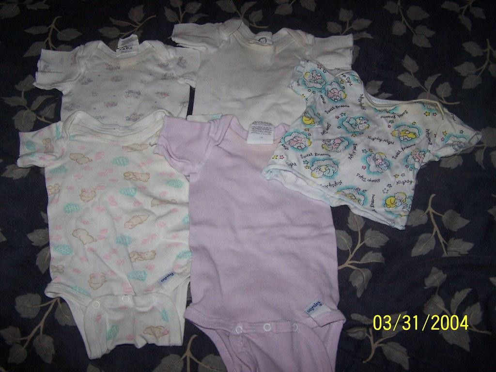 4 Infant Onsies & 1 Infant T-Shirt