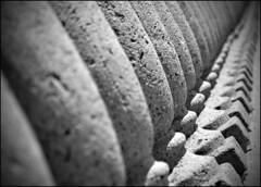 \  \ \\ ( CHRISTIAN ) Tags: blackandwhite bw blur texture architecture concrete blackwhite dof montral noiretblanc bokeh columns nb diagonal explore oblique flou noirblanc colonnes bton mtlunguessed gwim
