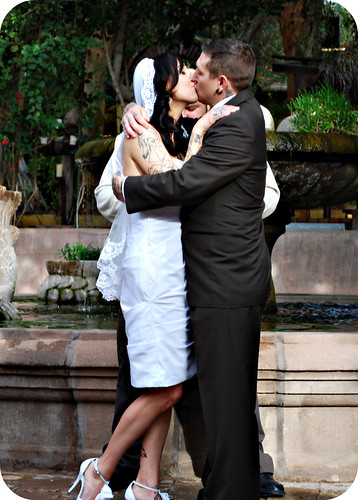 1st kiss as Mr. and Mrs.!