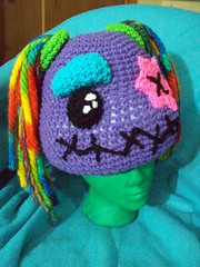 101_1115 (CrazyHatSociety) Tags: halloween rainbow purple cosplay handmade humor adorable hats creepy etsy geekery deadbaby neoncolors ravelry crazyhatsociety threadknits tauntonstitchandbitch