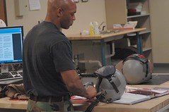 Life Support Chief (graphic gumbo) Tags: repair helmets checks lifesupportsystems