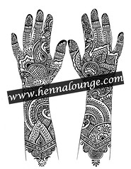 sample page from Henna Lounge Bridal Mini eBook (HennaLounge) Tags: book design pattern gulf indian pakistani henna ebook mehndi khalijee