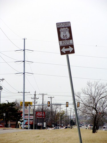 Route 66 in East Tulsa, Oklahoma