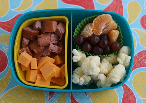 sausage/cheese/booty bento