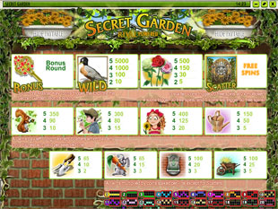 free Secret Garden slot mini symbol