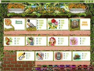 free Secret Garden slot mini symbol