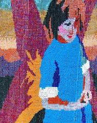 Faerie Tales 2 top half (designingrosestore) Tags: blue red girl sunrise spring wings colorful purple background faerie beadwork seedbeads beadweaving ebw loomwork ebwc