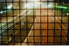 Time runs fast (Kime011) Tags: light 2 cars film night 35mm torino photography lights graffiti timelapse highway long exposure voigtlander autobahn luci turin notte 011 autostrada analogic macchine vitomatic italia61