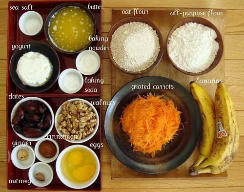 Carrot Banana Bread: Mise En Place