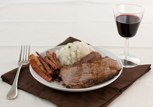 Zinfandel Pot Roast with Glazed Carrots and Parsnips