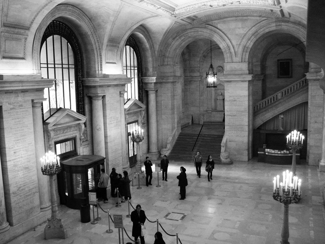 New York Public Library, Main hall