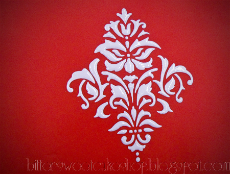 royal icing stencil cake fondant