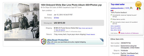 1904 Onboard White Star Line Photo Album 400+Photos yqz Screenshot Sold on eBay