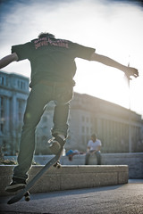 Skateboarders at Freedom Plaza 4 (gdudg) Tags: sports washingtondc spring jump skateboarding air skaters dcist trick libertyplaza