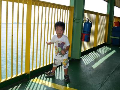 Julian on the ferry