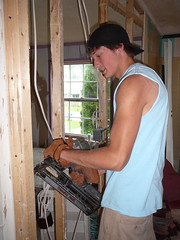building a bedroom wall to renovate sub-standard housing