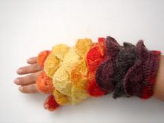 Multi color yarn Fingerless Mittens Gloves No 12 (cookieletta) Tags: amber gloves accessories fingerless motherday orangebrown applered europeanstreetteam yellowgreenred crochetmittens fallwinterautumn womengirlmom burgundycorn
