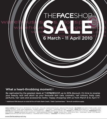 6 Mar - 11 Apr: TheFaceShop Sale Nationwide