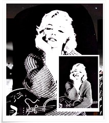 Collage, MM ,Marilyn Monroe, _M_M_,bw, sw, black and white, schwarz-weiss,