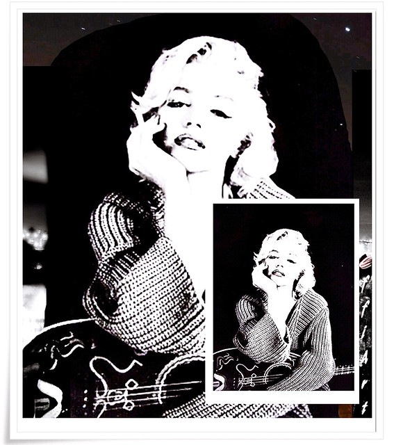 Collage, MM ,Marilyn Monroe, _M_M_,bw, sw, black and white, schwarz-weiss, by eagle1effi