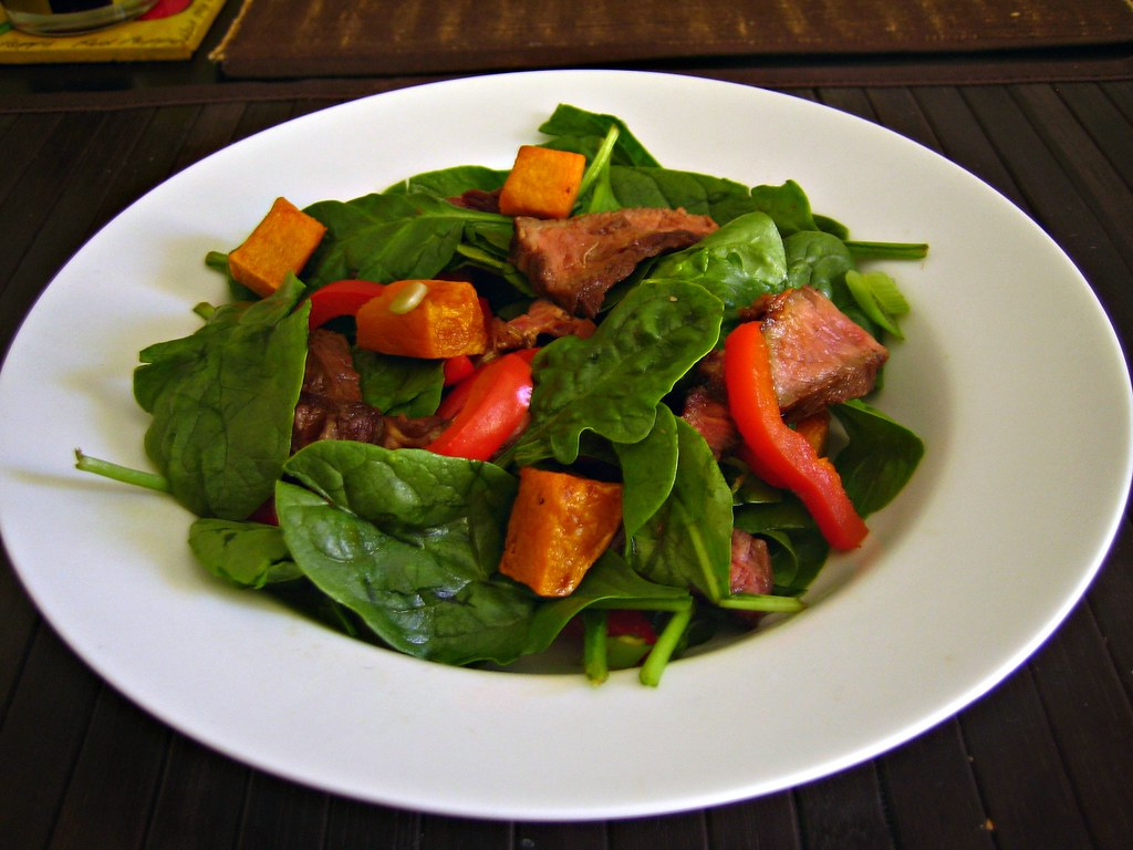 Beef, Spinach & Pumpkin Salad (76/365)