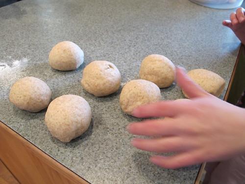 Pretzel dough balls